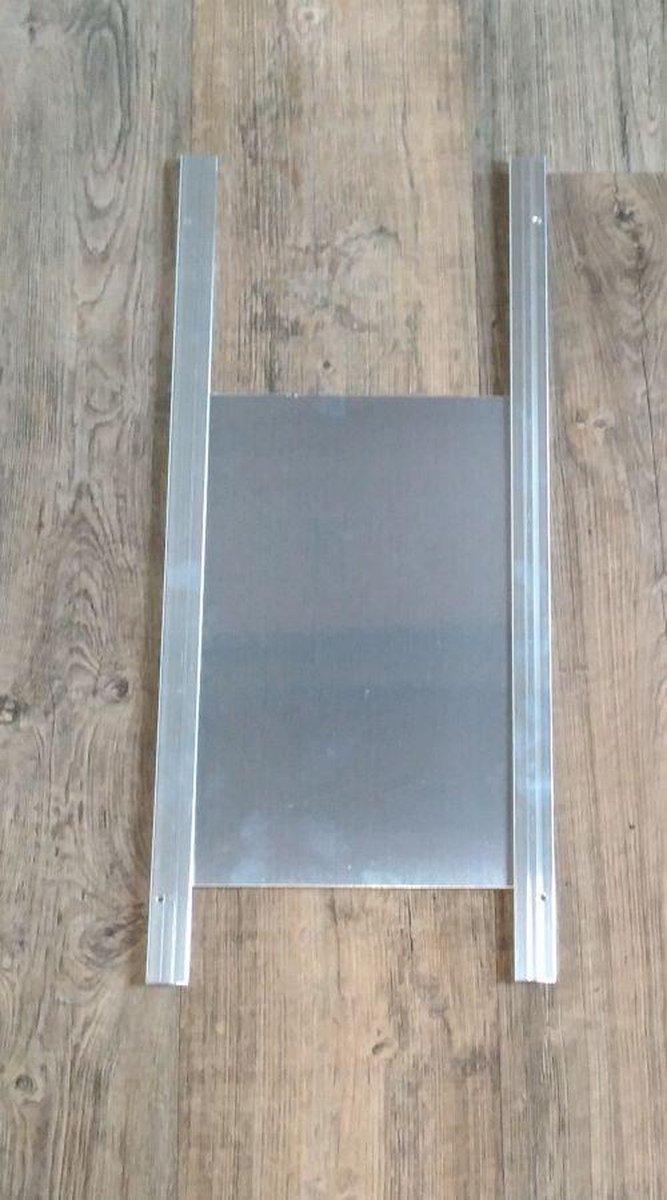 Aluminium kippenluik small