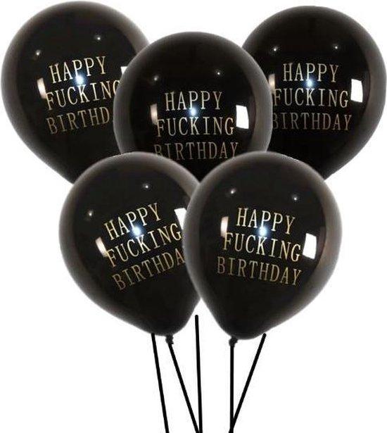 Happy Birthday Ballonnen | Abusive Balloons | 10 stuks | Offensive Balloons | Scheld ballonnen | Rumag ballonnen (lookalike)
