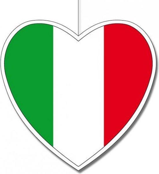 Bol Com Hangdecoratie Hart Italie 28 Cm Italiaanse Vlag Ek Wk Landen Versiering