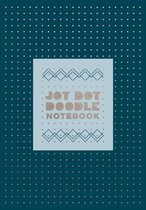 Jot Dot Doodle Notebook, Blue and Silver
