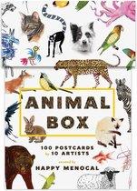 Wenskaarten met dieren 100 stuks - Animal box