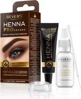 REVERS® Eyebrow Henna Pro Colours Dark Brown 15ml.+15ml.