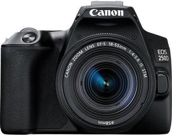 Canon EOS 250D + EF-S 18-55mm IS STM - Zwart