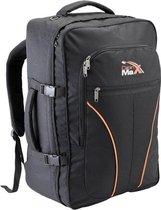 CabinMax Tallinn Handbagage Rugzak – Handbagage Koffer – Backpack – Lichtgewicht Reistas – 55 liter Rugtas – 55x40x25cm – Zwart (TALLINN)