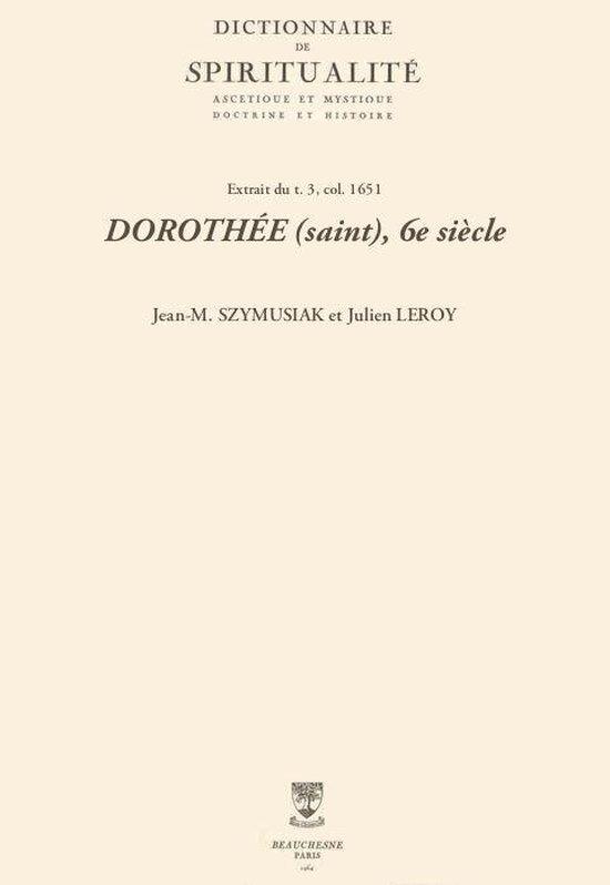 DOROTHÉE (saint), 6e siècle
