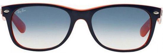Ray-Ban RB2132 789/3F - New Wayfarer (Color Mix) - zonnebril - Blauw-Oranje / Lichtblauw Gradiënt - 52mm