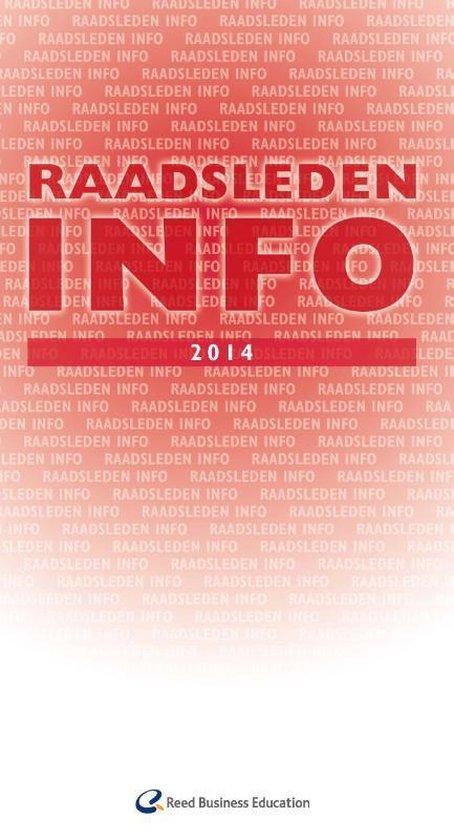 Cover van het boek 'Raadsleden info  / 2014'
