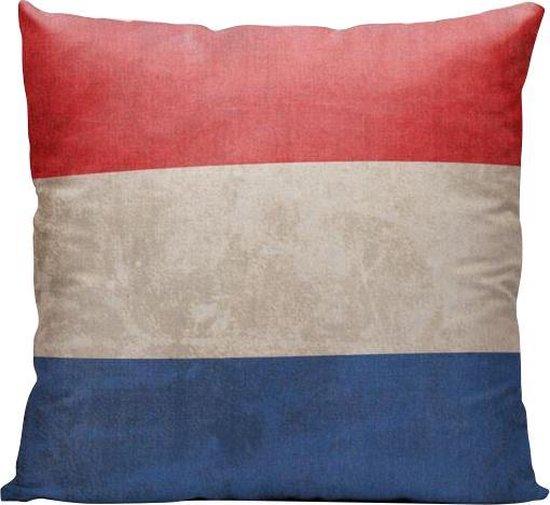Nederlandse Vlag - Sierkussen - 40 x 40 cm - Nederland/Holland (NL) - Reizen / Vakantie - Reisliefhebbers - Voor op de bank/bed