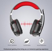 Kotion Each Gaming Headset - Windows - Zwart/Rood
