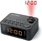 Muse M-178 P zwart wekker radio met projectie