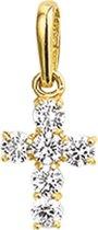 The Jewelry Collection Hanger Kruis Zirkonia - Goud