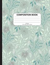 Composition Notebook with Flowers (Green)