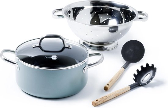 GreenPan Mayflower keramische Pasta set - 3-delig - incl. opscheplepels