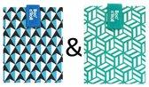 Boc'n'Roll Foodwrap herbruikbaar Boterhamzakje - Tiles Blue en Green