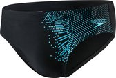 Speedo E10 Gala Logo 7cm Brief  Zwembroek - Maat 38  - Mannen - zwart/licht blauw Maat 7