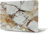 Mattee MacBook Air 13 Inch Hard Case Laptop Sleeve Marble (White/Gold)