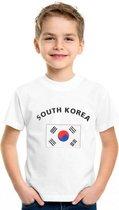 Kinder t-shirt vlag South Korea Xl (158-164)