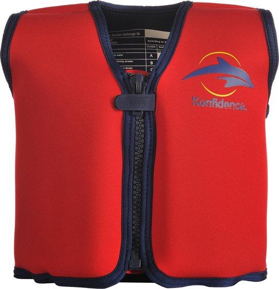 Konfidence - Zwemvest/Drijfvest kind - Rood - 4-5 jaar / 20-25 kg