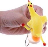 Kip sleutelhanger - Kip legt ei! - Inknijpbaar - Speelgoed