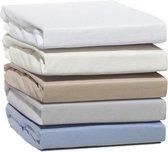 Doubel Jersey ™ - Hoeslaken Flanel Jersey 100% Katoen Extra Zacht En Warm -200X200 Cm - Navy Blauw