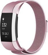 YONO Milanees Bandje - Fitbit Charge 2 - Roze - Small