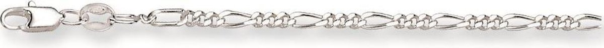 Classics&More ketting - zilver - figaro 2.5 mm - 42 cm - Silver Lining