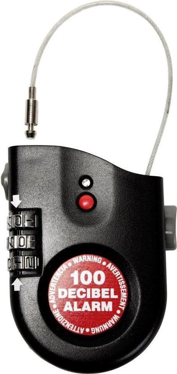 Racefiets Lock Alarm CSA Mini, kabelslot met alarm