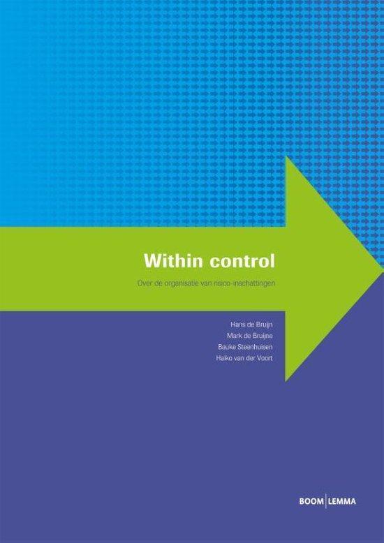 Boek cover Within control van Hans de Bruijn (Onbekend)