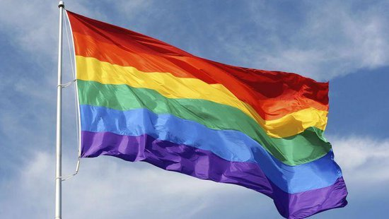 Regenboog vlag 90 x 150 cm  - Gaypride - Merkloos
