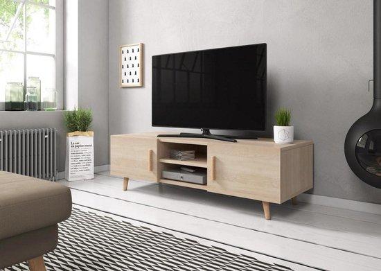 Leuke Moderne Tv Kast.Bol Com Tv Kast Hout Scandinavisch Design Eikenhouten Look