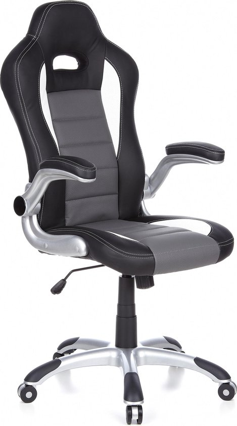 Mooie Stevige Bureaustoel.Bol Com Hjh Office Game Racer Sport Bureaustoel Zwart Grijs
