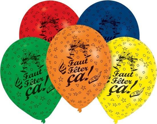 Pegaso Ballonnen Faut Fêter ça All-over Print 8 Stuks 25 Cm
