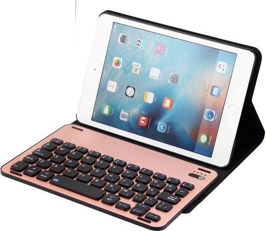 Shop4 iPad Mini 123 Toetsenbord Hoes Bluetooth Keyboard Cover Business Roze