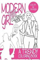 Modern Girl Coloring Book Travel Size