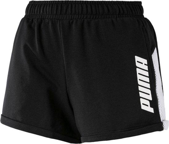 Puma Modern Sport Short  Sportbroek - Maat L  - Vrouwen - zwart/wit