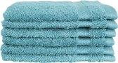 Katoenen Washandjes met Ophang Lus – 6 Pack – 15 x 21 cm – Denim Blue