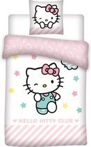 Hello Kitty - Dekbedovertrek - Eenpersoons - 140x200 cm + 1 kussensloop 63x63 cm - Polyester