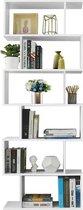 MIRA Home - Vrijstaande kast 6 compartimenten - Boekenkast - Basic - Spaanplaat - Wit - 70x24x190,5
