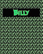 120 Page Handwriting Practice Book with Green Alien Cover Billy