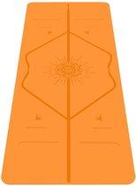 Liforme Happiness Yoga mat oranje  (Inclusief draagtas)