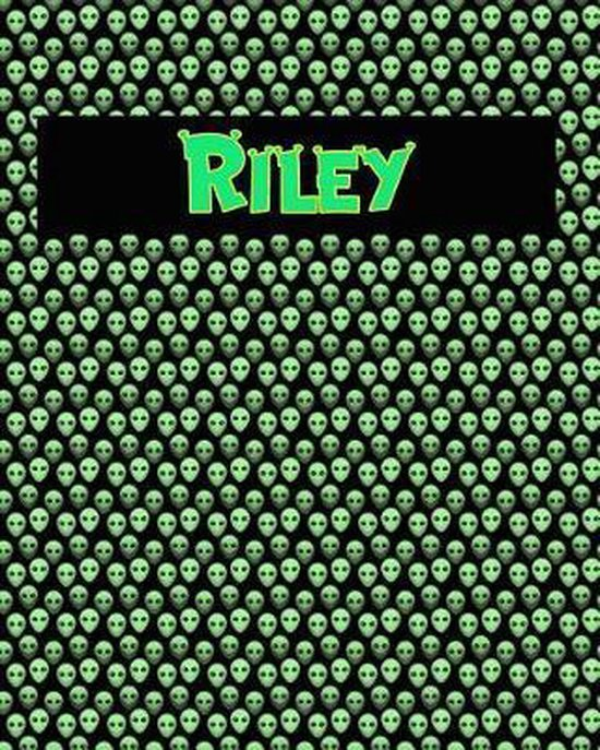 120 Page Handwriting Practice Book with Green Alien Cover Riley