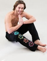 Yogabroek Chakra man zwart M-L - Katoen - Lycra - Zwart - L