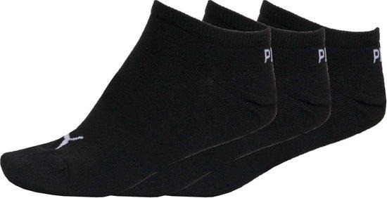 PUMA Invisible Sneakersokken - 3 pack - Zwart - Maat 39-42