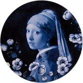 Delfts blauw wandbord Meisje met de Parel - Delfts blauw Sierbord - Wandtegel - Porselein wandbord - Vermeer - Sierbord ophangen - Incl. bevestiging - Hollandse souvenir - Relatiegeschenk - Wanddecoratie