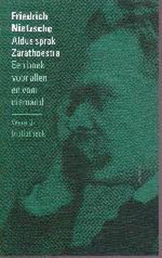 Boek cover Aldus sprak Zarathoestra van Friedrich Nietzsche (Paperback)