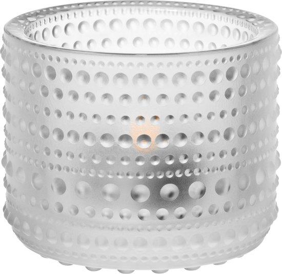 Iittala Kastehelmi - Waxinelichtjeshouder - Sfeerlicht - h 6.4 cm - Mat