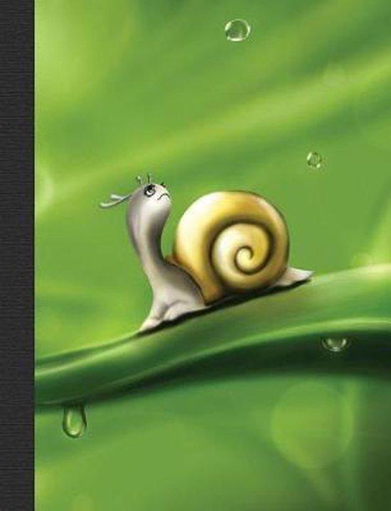 Cute Snail Composition Notebook, Graph Paper