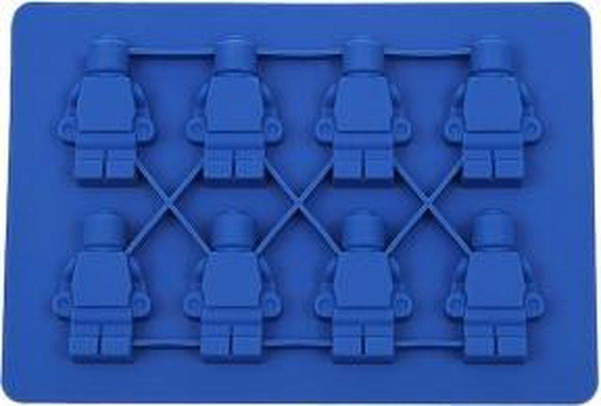 Chocoladevorm Lego Mannetjes blauw siliconen vorm voor ijsblokjes chocolade fondant - LeuksteWinkelt