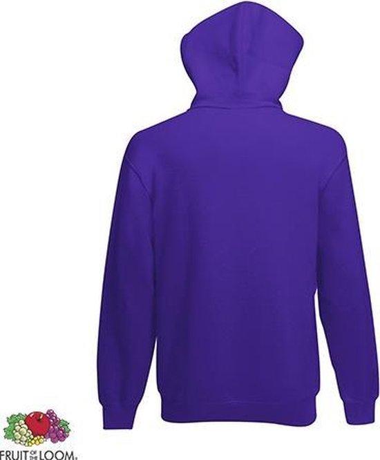 Fruit Of The Loom Hoodie Purple Maat M Dubbellaagse Capuchon