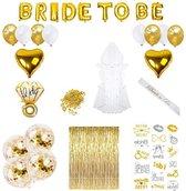 Vrijgezellenfeest vrouwen decoratie Feestpakketten Goud - Compleet